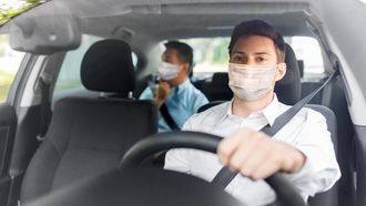 man, car, driver, taxi, mask, virus, pandemic, epidemic, health, safety, quarantine, passenger, driving, transportation, service, automobile, transport, vehicle, transporting, auto, male, person, people, drive, young, adult, respiratory, viral, disease, influenza, protective, face, medical, protection, pollution, flu, coronavirus, healthcare, infection, illness, sickness, concept, outdoors, traffic, public