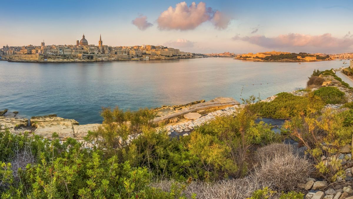 St Paul's Church, Tourism, Dawn, Famous Place, Vacations, Panoramic, Valetta, Plant, Summer, Rock - Object, Island, Sea, Cathedral, Church, Harbor, Urban Skyline, sliema