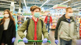 coronavirus, covid, shopping, store, mask, shop, supermarket, buyer, purchaser, food, grocery, epidemic, quarantine, covid-19, virus, pandemia, protection, sterility, people, man, gloves, panic, crisis, outbreak, pneumonia, market, 2019-ncov, ncov, cart, trolley, retail, corona, flu