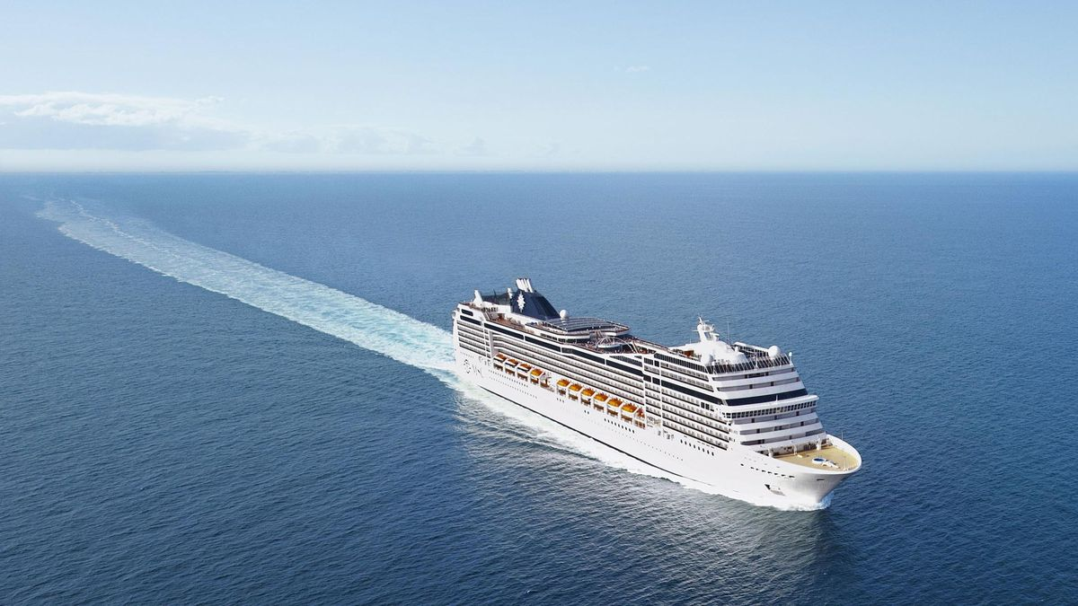 MSC Magnifica, Ship, Aerial view, Sky, Sea, Musica Class